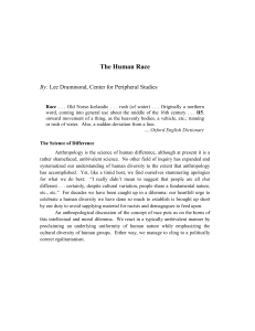 The Human Race. - Center for Peripheral Studies
