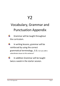 Vocabulary - Parklands Primary School, Leeds