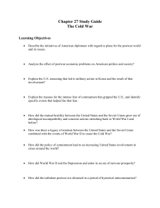 Chapter 27 Study Guide The Cold War Learning Objectives