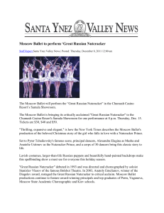Moscow Ballet to perform - Santa Ynez Band of Chumash Indians