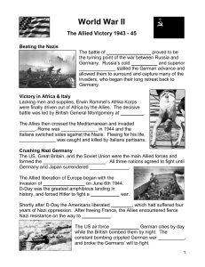 Allied Victories