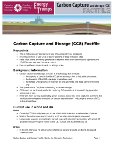 Carbon Capture and Storage Factfile