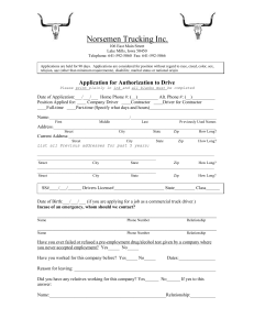 Application for Authorization to Drive