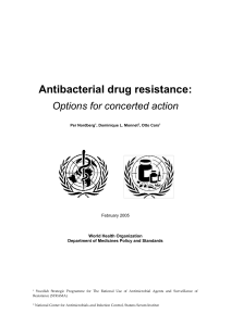 Antibacterial Drug Resistance - WHO archives