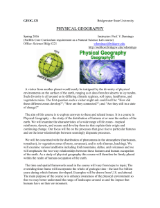 GEOG.121 Physical Geography - Bridgewater State University