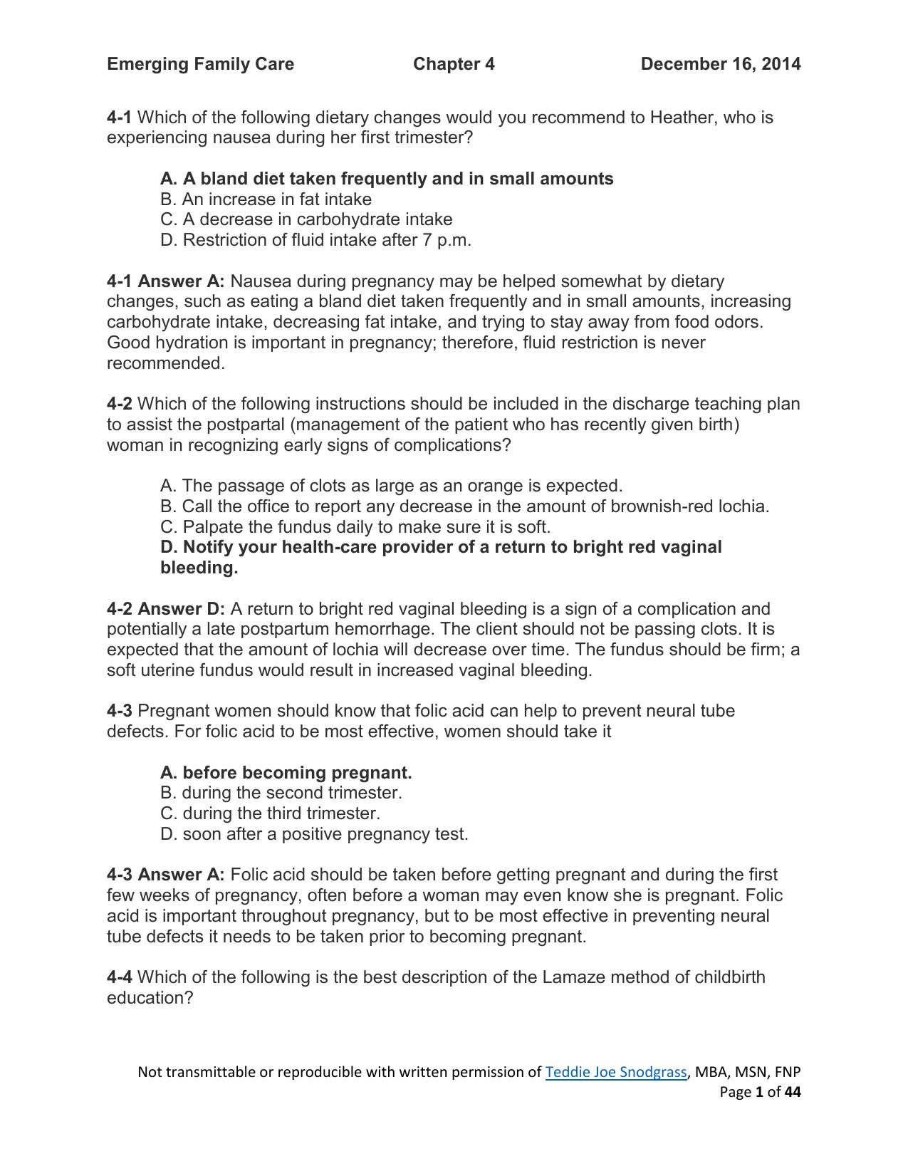 Emerging Family Exam - Teddie Joe Snodgrass, FNP