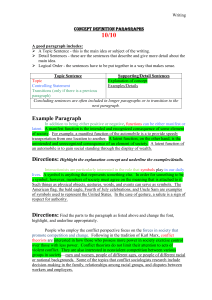 Concept Definition Paragraphs