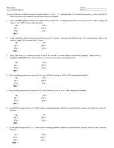Solve the following problems using the finance