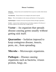 Disease Vocabulary - Laing Middle School