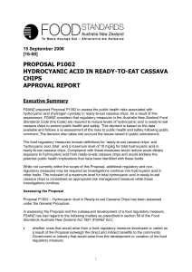 Hydrocyanic Acid in Ready-To-Eat Cassava Chips