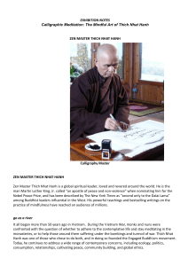 Exhibition Notes - The Mindful Art of Thich Nhat Hanh