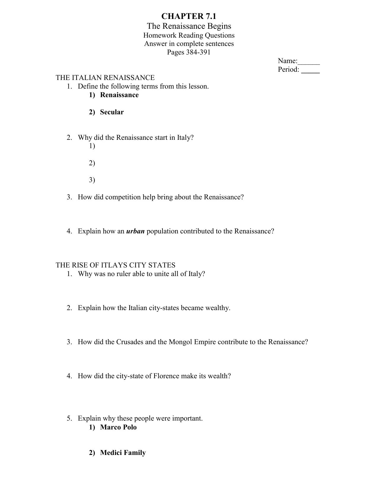 7 1 Homework Worksheet