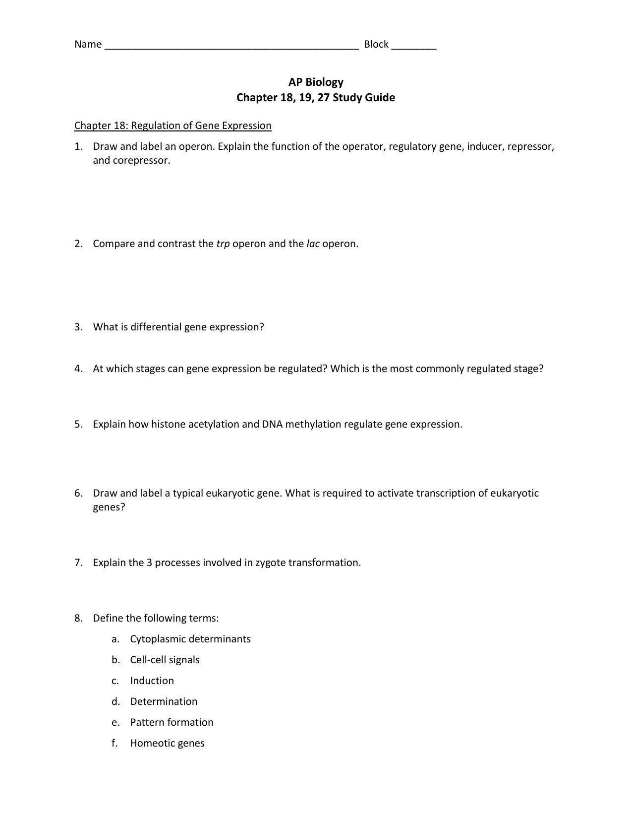 Latest Regulation: Gene Regulation In Bacteria Worksheet ...