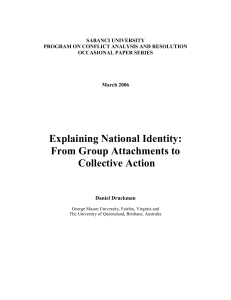 Explaining National Identity: From Group Attachments to