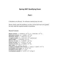 Spring 2007 Qualifying Exam