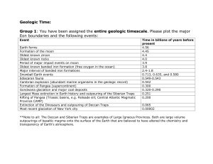 Geological Timescale Tables