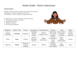 Study Guide - Native Americans