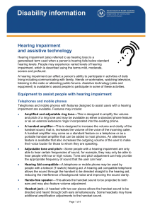 Hearing Impairment and assistive technology