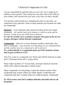 File chemical comp. in cells notes 8a