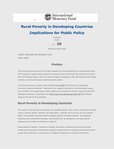 Economic Issues No. 26--Rural Poverty in Developing Countries