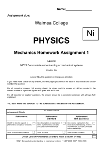 Achievement - Waimea Physics