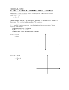 section 3.5 systems of linear equations in 2 variables