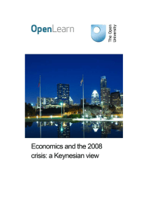 Economics and the 2008 crisis: a Keynesian view