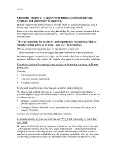 Classnotes chapter 3: Cognitive foundations of entrepreneurship
