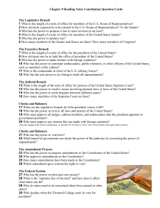 ISN Reading Notes 9 Constitution Question Cards