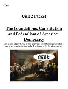 Unit 2 The Foundations, Constitution, and Federalism of American