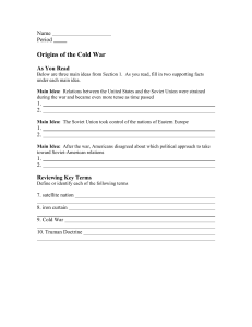 The Origins of the Cold War Guided Reading - Moodle