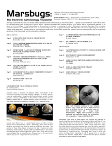 1 Marsbugs: The Electronic Astrobiology Newsletter, Volume 12