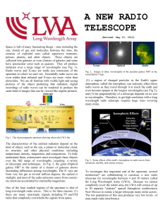 A NEWE RADIO TELESCOPE: THE LONG WAVELENGTH ARRAY