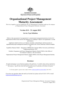 Organisational Project Management Maturity Assessment