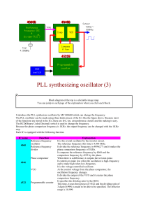 PLL synthesizing oscillator (3)