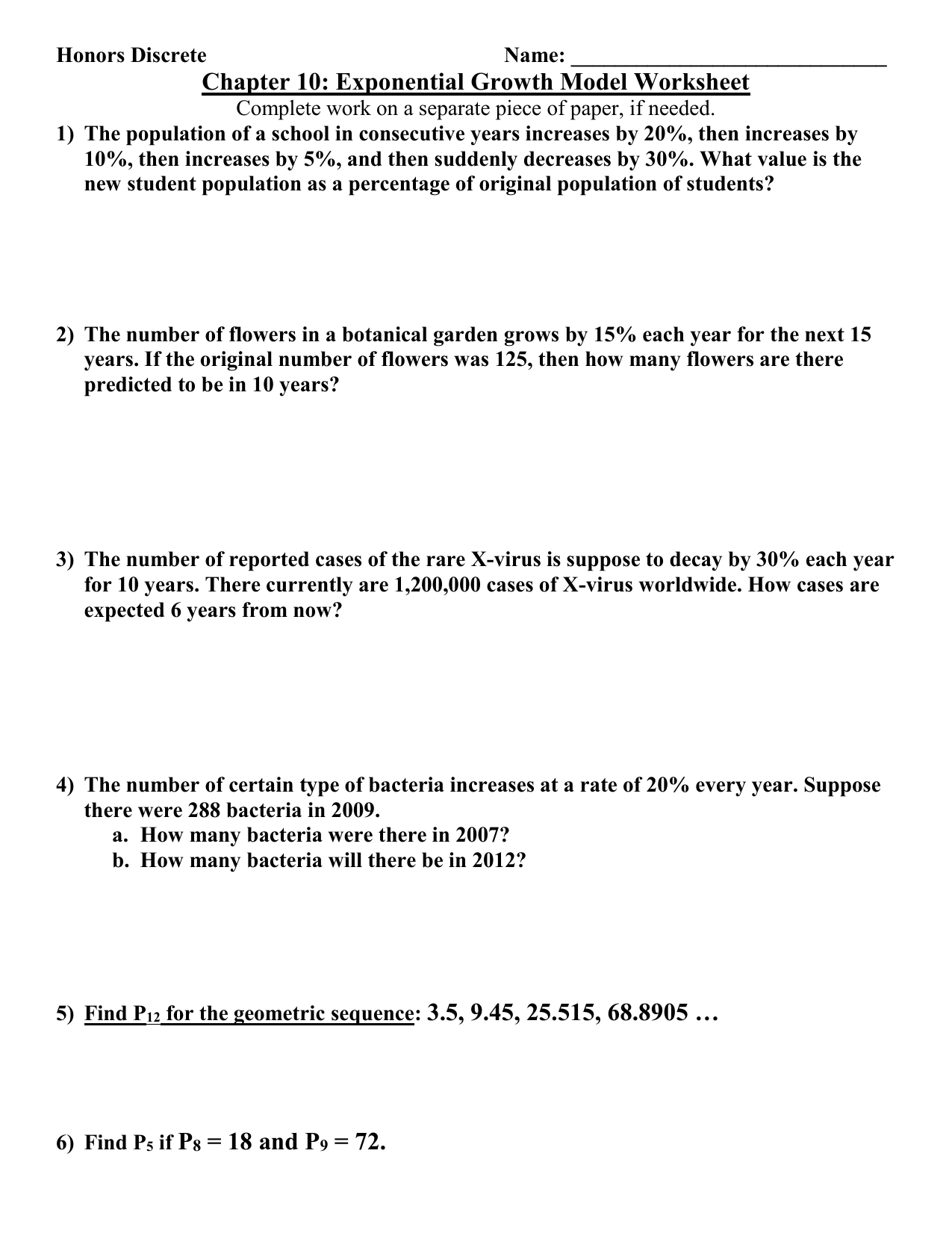 10 3 Exponential Growth Worksheet