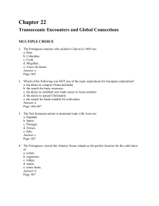 Chapter 22 Transoceanic Encounters and Global Connections