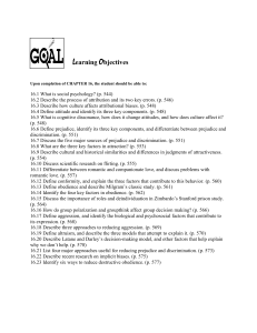 Learning Objectives Upon completion of CHAPTER 16, the student