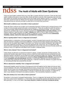 Adult Healthcare - Down Syndrome Association San Diego