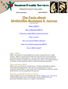 The Facts about Methicillin-Resistant S. Aureus (click topics below