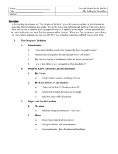 Chapter 11 Judaism Outline answers