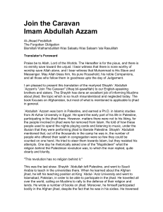 Join the Caravan - Abdul Azzam