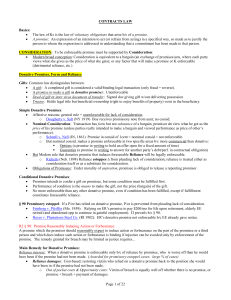Contracts - Eisenberg - 2004 Spring - outline 2