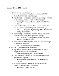 Lesson 45 Social Movements