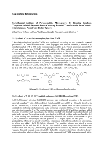 Solvothermal Synthesis of Polyazomethine Microspheres