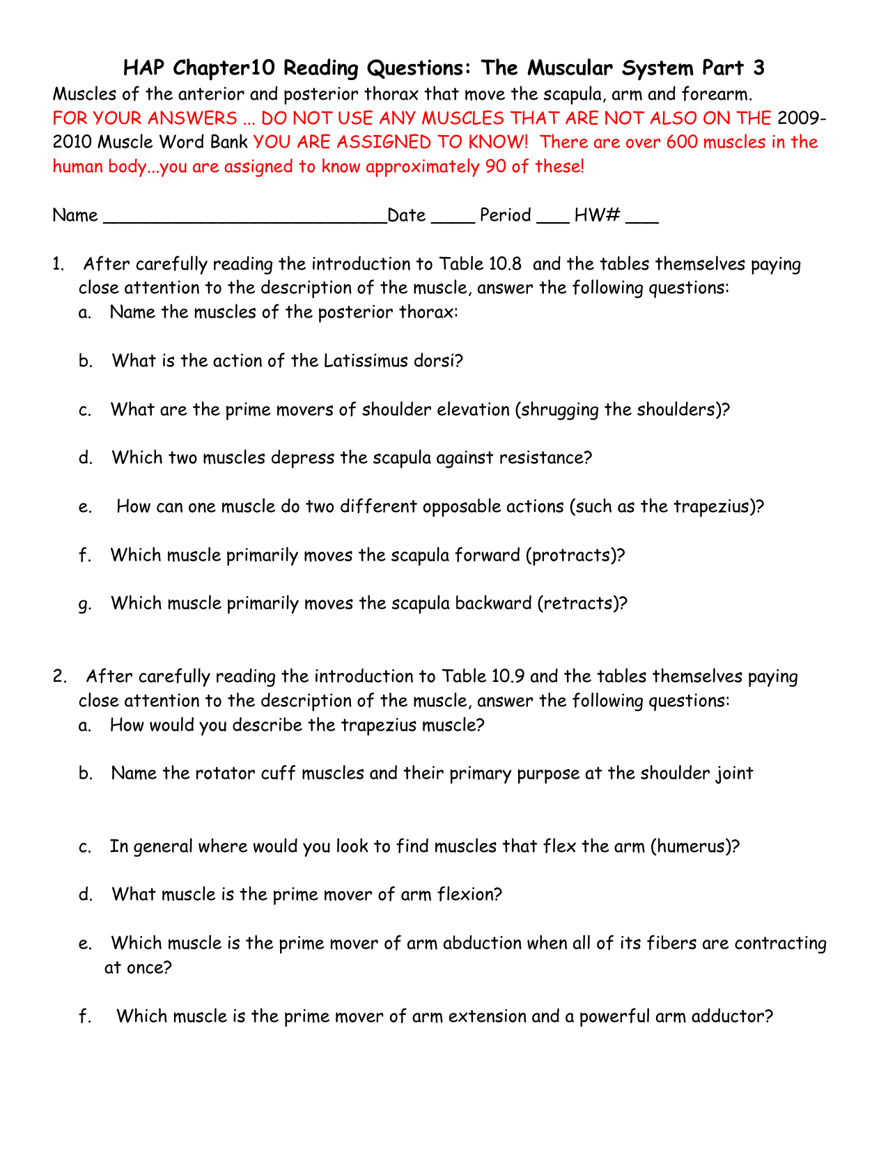 HAP Chapter10 Reading Questions The Muscular System Part 3