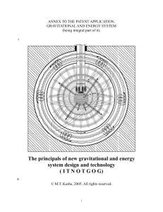 The principals of new gravitational and energy system