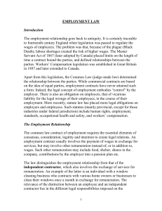 3010 EMPLOYMENT LAW - U of L Class Index