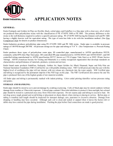 application notes - Endot Industries