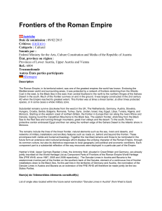 Frontiers of the Roman Empire - UNESCO World Heritage Centre